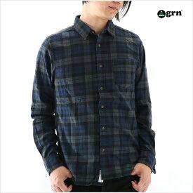 grn ジーアールエヌ ビエラネルチェックシャツ M Lサイズ