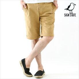 ショートパンツ メンズ ショート パンツ メンズ 膝上 ヴィンテージチノショーツ SIGN STATE サインステイト