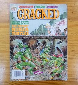◎アメリカ コミック雑誌「CRACKED」 「THE MUTANT NINJA TURTLES」1991年7月号 ミュータントニンジャタートルズ・アメリカン雑貨・アメリカ雑貨・アメ雑