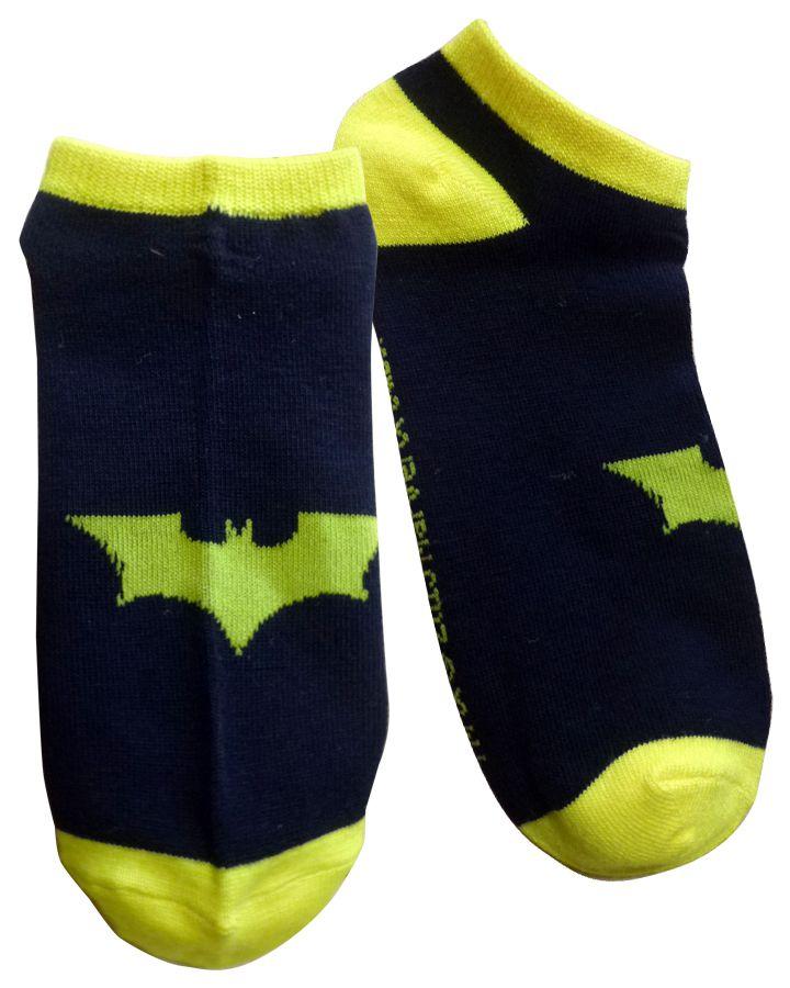 ◎【BATMAN バットマン】バットマーク スニーカーソックス・靴下 DCコミックス・DC・アメキャラ・アメコミ・アメリカン雑貨・アメリカ雑貨・アメ雑