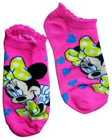 【Disney/ディズニー】ミニーマウス キッズ用ソックス・靴下『ハート』ピンク アメキャラ・アメコミ・アメリカン雑貨・アメリカ雑貨・アメ雑