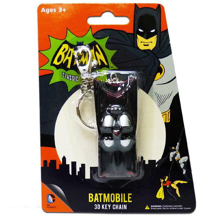 ◎【 バットマン BATMAN 】 3Dキーチェーン 『1966 TVシリーズ バットモービル』 DCコミックス・DC・アメキャラ・アメコミ・アメリカン雑貨・アメリカ雑貨・アメ雑 ・キーリング・キーホルダー