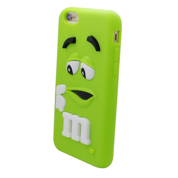◎【 m&m's / エムアンドエムズ】 iPhone6/6S対応シリコンジャケット『グリーン』 iPhone6ケース・キャラクタージャケット・アメキャラ・アメリカ雑貨・アメリカン雑貨・アメ雑