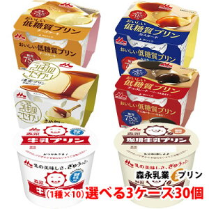 森永乳業 人気プリン各種 選べる3ケース(30個)