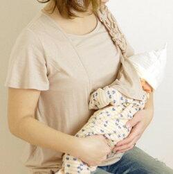 おしゃれ授乳服マタニティ半額セールお買い得肩フリルバルーントップス半袖夏産後母乳育児服安い可愛いミルフェルム