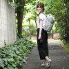 照相机包单反camera bag照相机帆布背包MI-NA mina漂亮的广场帆布背包/★Liberty×CORDURA★Gray、Claire-Aude灰色·Crea颂歌