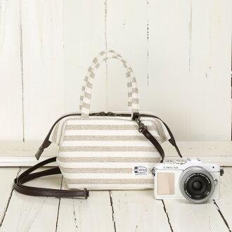 照相機包camera bag MI-NA mina漂亮的2WAY小寬底旅行皮包/天然淺駝色邊緣