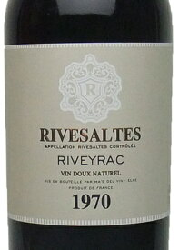 1970年 リヴザルト / リヴェイラック[フランス/赤ワイン/甘口/フルボディ/750ml/1本]