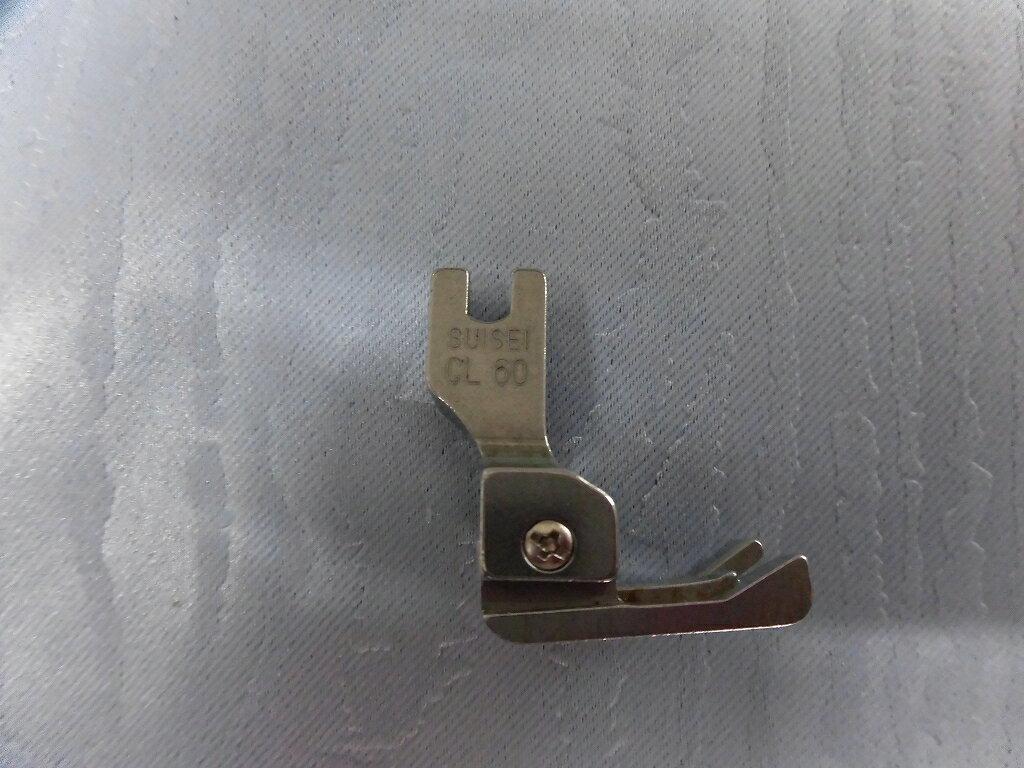 【中古】工業用ミシン用段付き押え金左スイセイCL-60仕上がりサイズ6.0mm