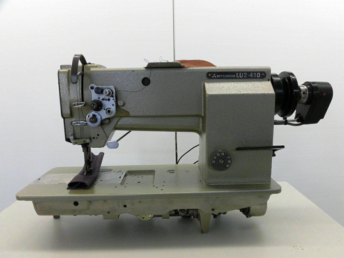 【中古】三菱 LU2-410 MITSUBISHI ミツビシ 三菱ミシンLU2−410 日本で製造したミシン。 三菱 1本針総合送り自動糸切機能付き モデル NO−LU2-410型 頭部のみ。