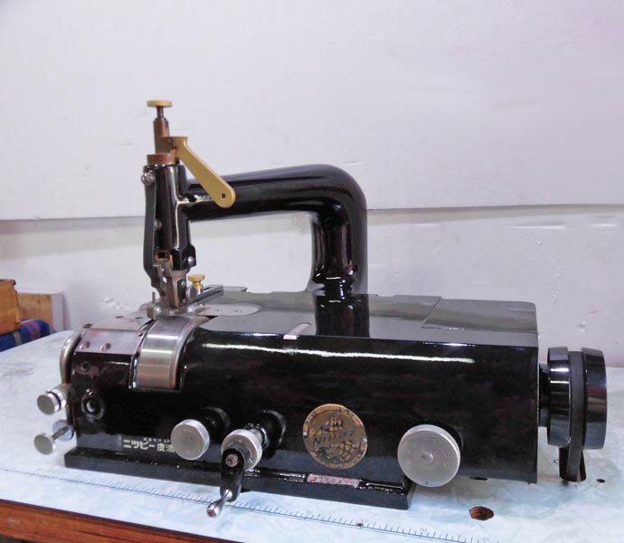 【中古】革剥き機 ニッピ 皮漉き機(NO.N780970)頭部のみ。 皮剥き器