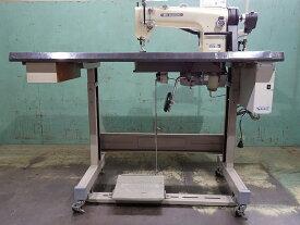 【中古】三菱ミシン MITSUBISHI ミツビシ1本針上下送り自動糸切ミシン。 NO− DY-349-22BZ 弊社にて整備済み。新品と同じく6ヶ月の保証付き。中古テーブル・脚付き。サーボモーター100V仕様、縫い始め縫い終わり自動止め縫い機能付き。
