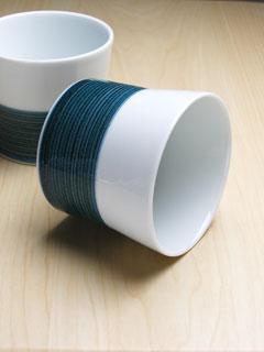 【白山陶器】麻の糸インディゴ
