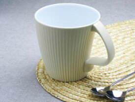白山陶器【波佐見焼】ストレッチ マグカップ ベージュマット【北欧】【モダン】【シンプル】【しのぎ】