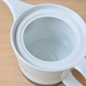 【白山陶器】麻の糸インディゴポット(大)、急須700mlシングルス来客用【日本茶】【紅茶】北欧食器とも合う