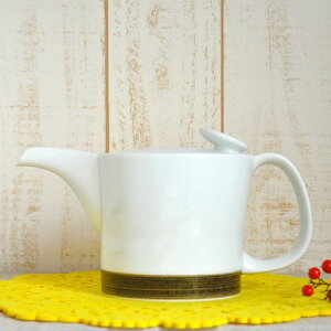 【白山陶器】麻の糸インディゴセピア(大)、急須700mlシングルス来客用【日本茶】【紅茶】北欧食器とも合う
