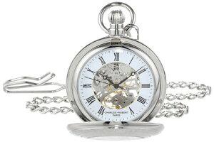 チャールズヒューバート Charles-Hubert, Paris 懐中時計 ポケット チェーン ウォッチ ホワイト 3527-W 送料無料 【並行輸入品】