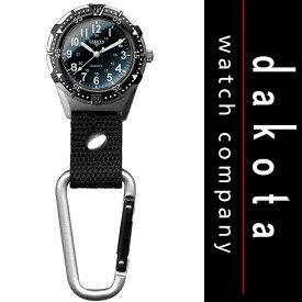 ダコタ Dakota 時計 カラビナ ウォッチ クリップ ウォッチ ブラック 28446 送料無料 【並行輸入品】