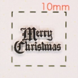 Christmasロゴ【クリスマス ネイル&デコシール】(7)/1シート12枚入