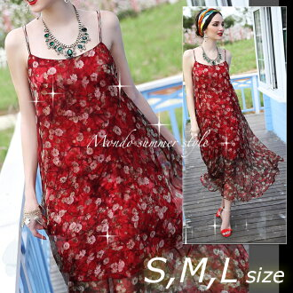 A resort vacation figure cover party is new a maxi chiffon S M large size maxi length dress long dress red rose red rose beach dress sexy dress having a long maxi dress resort maxi dress no sleeve softly