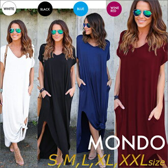 Maxi dress long dress dress XXL big size sexy blue long length blue V neck fireworks display stretch T シャツワンピバカンスドレスナイツ night SEXY party
