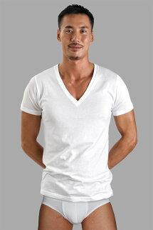 イージーモンキーEASYMONKEYVネックTシャツ半袖イーモンTシャツコットンストレッチメンズ男性