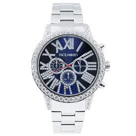 腕時計 キラキラ スワロフスキー ジルコニア レディース メンズ ゴールド ギラギラ FACEAWARD