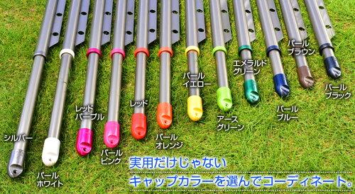 組み立て式高剛性伸縮ハンガー竿錆びない物干し竿(長さ:1.9mから3.0mまで伸びる)シャンパンゴールド色ベランダキャップの色が選べる