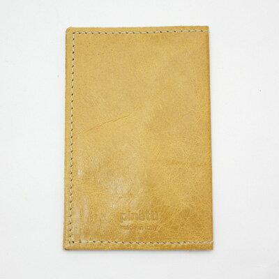 PINETTIVINTAGE DOUBLE CARD HOLDERピネッティヴィンテージダブルカードホルダーマスタード