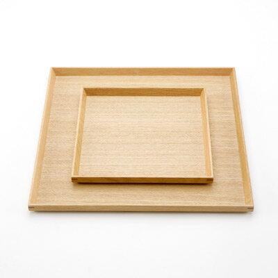 越前漆器盆 白木 6.5角盆