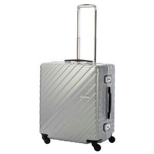 【全商品ポイント10倍】 HIDEO WAKAMATSU ヒデオワカマツ ナロースクエア 超軽量 スーツケース LL ハードキャリー TSA 80L シルバー 85-76530-SV