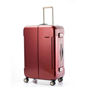 【全商品ポイント10倍】 HIDEO WAKAMATSU ヒデオワカマツ ナローII 超軽量 スーツケース LL ハードキャリー TSA 90L ワイン 85-76380-WN