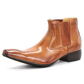【ポイント10倍 クーポン配布中】 SARABANDE サラバンド バッファローレザー サイドゴア ブーツ 26.5cm 43サイズ キャメル 1394-CA-43