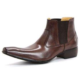 【ポイント10倍 クーポン配布中】 SARABANDE サラバンド バッファローレザー サイドゴア ブーツ 25.5cm 41サイズ ブラウン 1394-BR-41