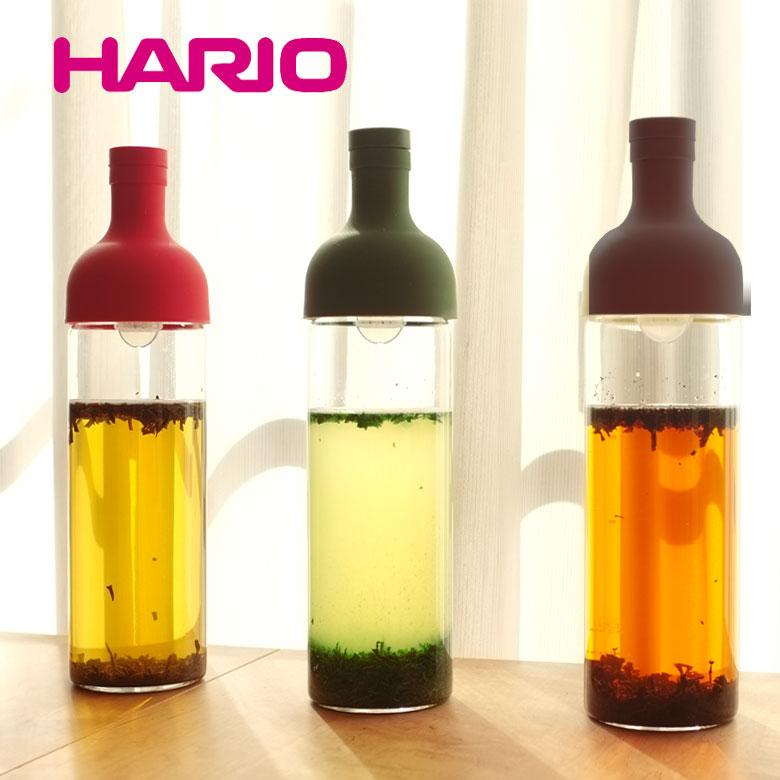 ハリオ フィルターインボトル FIB-75 [茶こしフィルター付きの耐熱ガラス製の水出し茶ボトル] HARIO Filter-in Bottle 父の日ギフト
