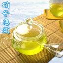 """硝子急須 [しっかりと""""急須""""の形をしていますので、冷茶ポットとは違った趣があります]水出しに敬老の日にも"""