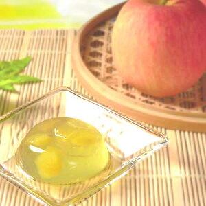 煎茶ゼリー りんご 6個入り[天然水で抽出した透き通ったお茶のゼリーに青森県産りんごの果肉を入れた夏のスイーツ]|森半 抹茶 抹茶スイーツ スイーツ 詰め合わせ お菓子 スイーツセッ