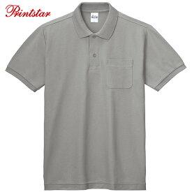 ポロシャツ メンズ ポロシャツ レディース ポロシャツ 半袖 ポケット付T/Cポロシャツ Printstar プリントスター【ゆうパケット】