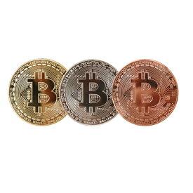 ビットコイン Bitcoin ゴルフマーカー ギフト レプリカ 仮想通貨 コイン グッズ ゴルフマーカー 1枚 (ゴールド/シルバー/ブラウン)