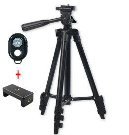 三脚 スマホ カメラ 軽量 一眼 スタンド 4段階伸縮 Bluetoothリモコン 持ち運び ミニ コンパクト iPhone Android