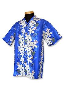 【レンタル】アロハシャツ Type B  【1】ブルー