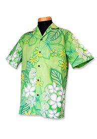 【レンタル】アロハシャツ Type B  【3】グリーン