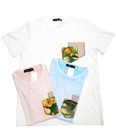 クーン/ KOON/ Tシャツ/910101384123/1 WHITE/無地 綿/ 白・サックス・ピンク