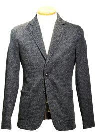 【SALE34】ティージャケット セットアップ トネッロ t-jacket tonello セットアップ 起毛コットンストレッチ 大柄メランジ グレー パッカブルバッグ付き【当店通常価格82,500円】