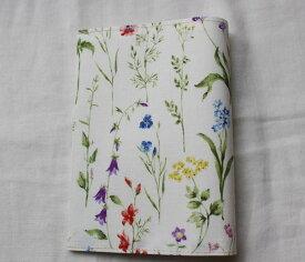 【メール便OK】かわいい 布製 布生地ブックカバー 文庫版 本・サイズ TOCONUTS/トコナッツ 可愛プリント生地 差し込むだけの簡単セット 厚さ1.5cm程度可能 綺麗な花柄