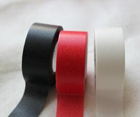 【ポスト便OK】ばら売り Mark's マークス 和紙 マスキングテープ/マステ キレイ (テープ幅1.2cm×7m巻)直径3.5cmの小さ目サイズ 赤・黒・白