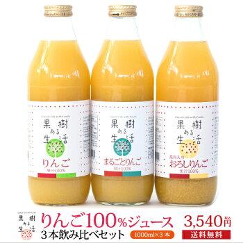 100%りんごジュース3本セット