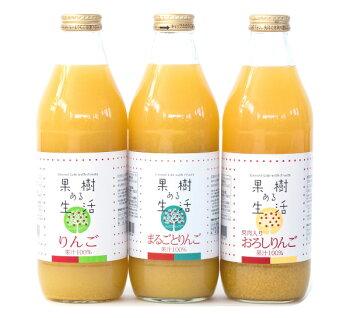 長野県産りんごジュース3本セット