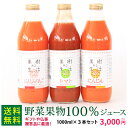果樹ある生活 野菜・果物100%ジュース3本ギフト  トマト・人参りんご・人参 なかひら農場TEL:0265363206    …
