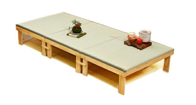 国産 中居木工 木製 3分割 分割式畳ベッド